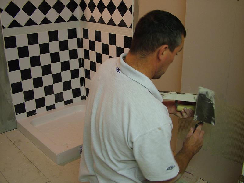 Ceramic tile courses
